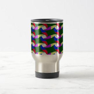 Fancy Colorful Paper Craft Ropes Print on shirts Travel Mug