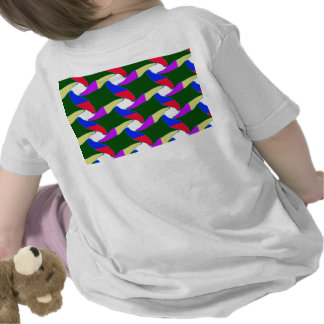 Fancy Colorful Paper Craft Ropes Print on shirts