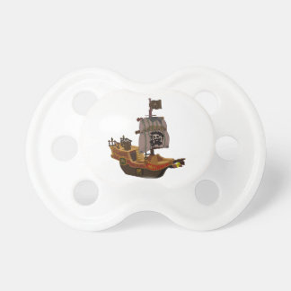 Fancy Colorful Wooden Pirate Ship BooginHead Pacifier