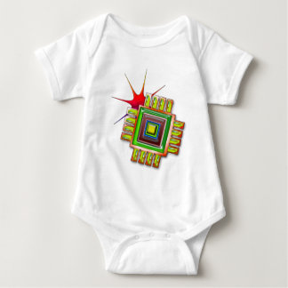 Fancy Computer Chip Infant Creeper