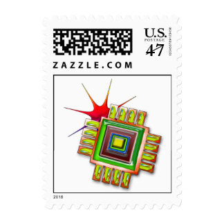 Fancy Computer Chip Postage