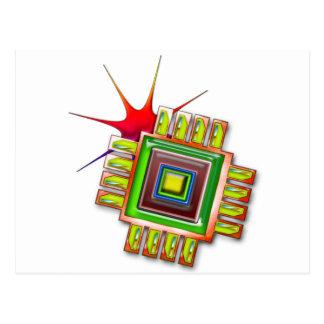 Fancy Computer Chip Postcard