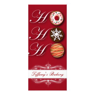 Fancy Cookie Bakery Christmas Promotion Rack Cards