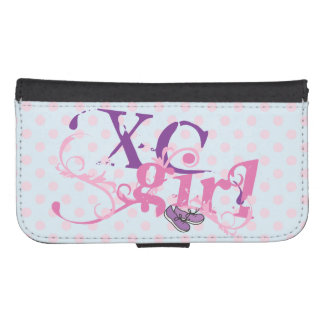Fancy Cross Country Girl - XC Purple Shoes Phone Wallet