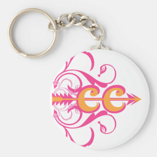 Fancy Cross Country Running Symbol Keychain