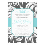 Fancy Crown Sweet Sixteen Birthday Party Invite