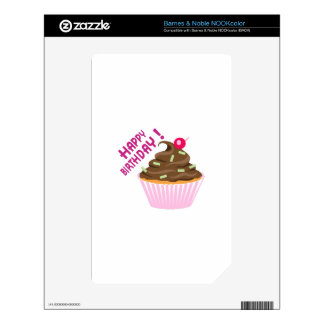 FANCY CUPCAKE DECALS FOR THE NOOK COLOR
