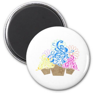 FANCY CUPCAKES 2 INCH ROUND MAGNET