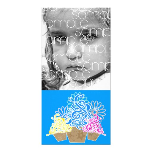 FANCY CUPCAKES PHOTOCARD PHOTO GREETING CARD