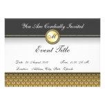 Fancy Custom Monogram Formal Invitation Custom Announcements