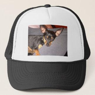 Fancy Cute Dog Chihuahua mini pincher  sleeping Trucker Hat
