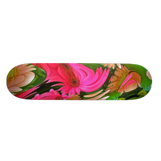 Fancy Daisies Digital Manipulation Skateboard