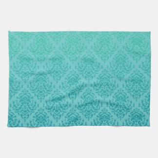 Fancy Damask Design~ Bluegreen Kitchen Towel