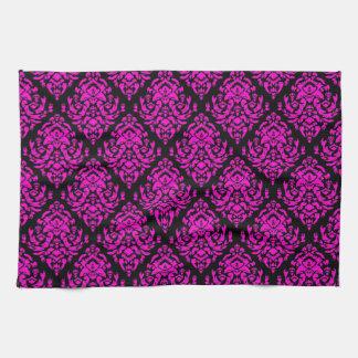 Fancy Damask Design~Hot Pink Towels