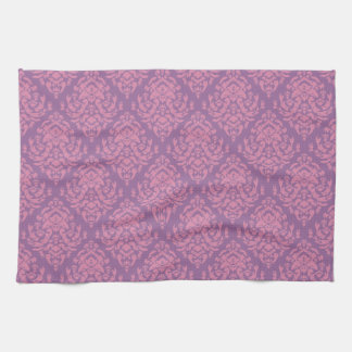 Fancy Damask Design~Mauve Towels