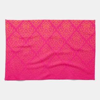 Fancy Damask Design~Pink Towels