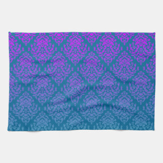 Fancy Damask Design~purple/teal Hand Towels