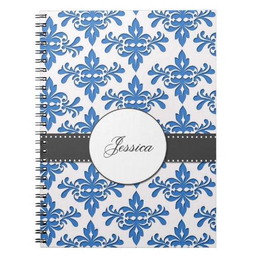 Fancy Damask Monogram Notebook