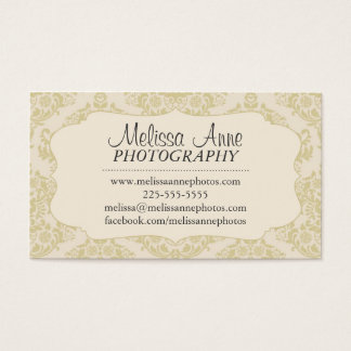 Fancy Damask Photography Business Card