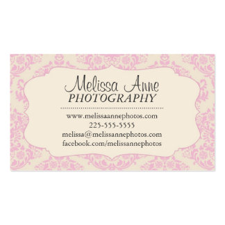 Fancy Damask Photography Business Card Template