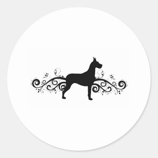 Fancy Dane Classic Round Sticker