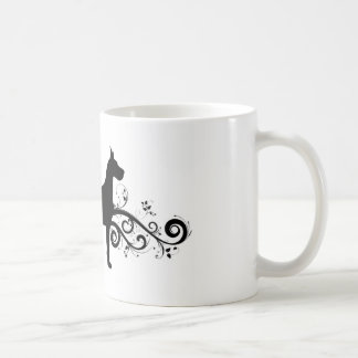 Fancy Dane Classic White Coffee Mug