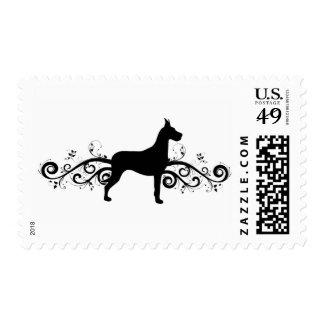 Fancy Dane Postage Stamp