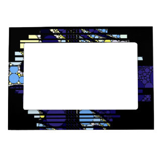 Fancy Dark Blue Abstract Magnetic Frame