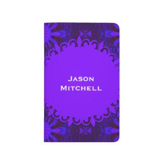 Fancy Dark Purple Abstract Design Journal