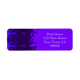 Fancy Dark Purple Blue Abstract Label
