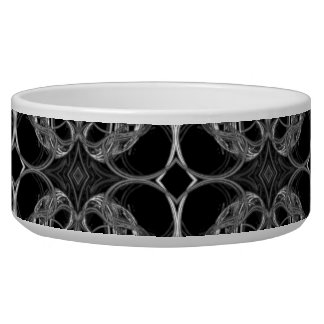 Fancy Decorative Pattern in Black and White. Bowl