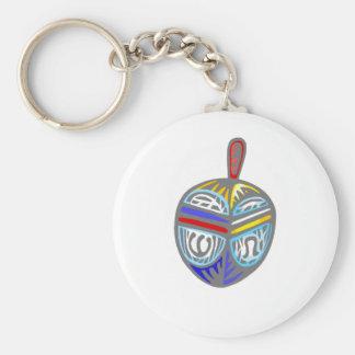 Fancy Dreidel Basic Round Button Keychain