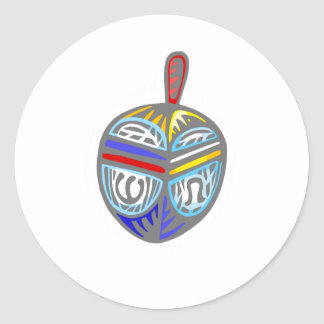 Fancy Dreidel Classic Round Sticker