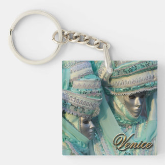 Fancy Dress Couple Costumes Double-Sided Square Acrylic Keychain
