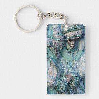 Fancy Dress Couple Costumes Double-Sided Rectangular Acrylic Keychain