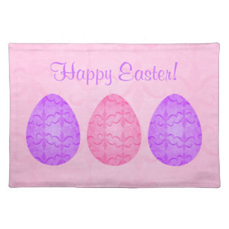 Fancy Easter eggs on pink Placemat