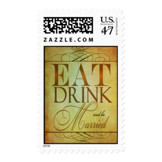Fancy Eat, Drink and be Married Postage