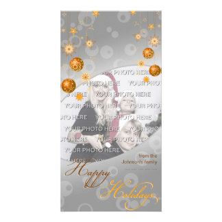 Fancy Elegant Gold Yellow Christmas Decorations Card