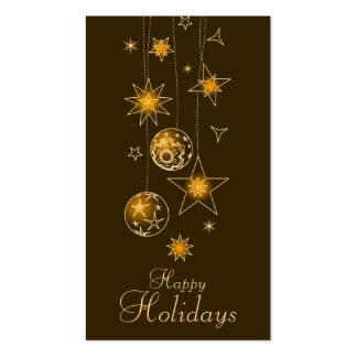 Fancy Elegant Gold Yellow Christmas Decorations Gi Business Cards