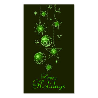 Fancy Elegant Green Christmas Decorations Gi Business Card Template