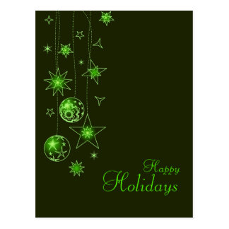 Fancy Elegant Green Christmas Decorations Post Cards