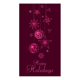 Fancy Elegant Pink Christmas Decorations Gift Tag Business Card