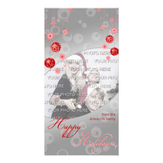 Fancy Elegant Red Christmas Decorations Card