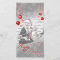 Fancy Elegant Red Christmas Decorations Holiday Card