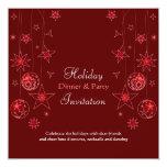 Fancy Elegant Red Christmas Decorations Custom Invites