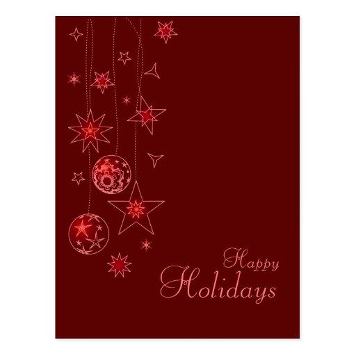 Fancy elegant red christmas decorations postcard zazzle for Fancy xmas decorations
