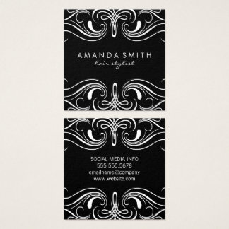Fancy Elements Square Business Card