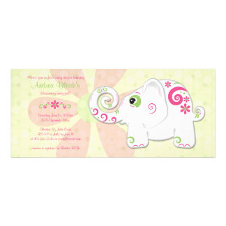 Fancy Elephant Baby Shower Invitation