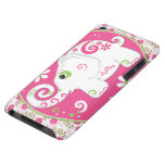 Fancy Elephant Floral Custom Name iPod Touch Case