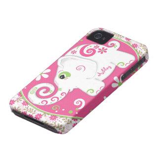Fancy Elephant Floral iPhone 4 Case-Mate Case